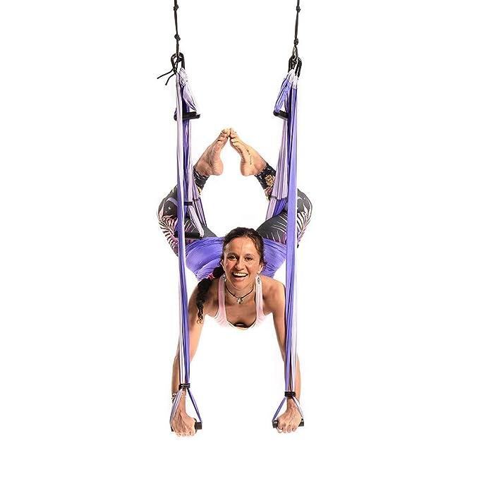 MQSS Hamaca de Yoga, Columpio Trapecio Set Yoga Trapeze para ...