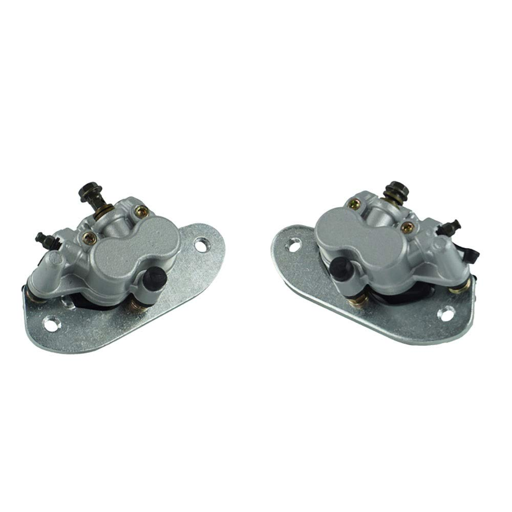 CONGJIEUS Parts, Parts Motorcycle Right and Left Rear Brake Caliper with Pads for Yamaha Rhino 700 4X4 2008 2009 2010 2011 2012 2013 (Color : Left)