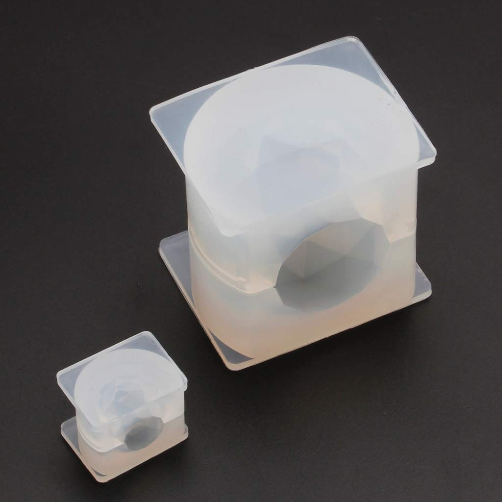 Wuweiwei12 1Pc 3D Diamond Crystal Ball Silicone Mold DIY Resin Casting Jewelry Mold Craft Tools