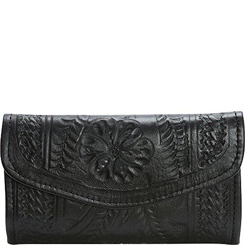 ropin-west-checkbook-wallet-black