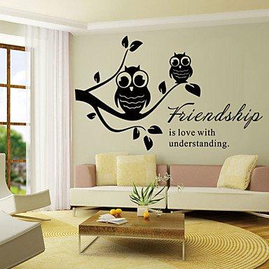 PI pegatinas de pared Tatuajes de pared amistad estilo de palabras ...