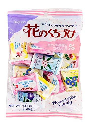 Kasugai Japanese Candy, Hana No Kuchizuke Flower Kiss, 5.1-Ounce Bags (Pack of (1975 Candy)