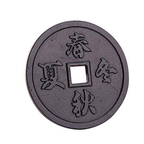 THY COLLECTIBLES Black Cast Iron Trivet Teapot Tetsubin Stand, Chinese Four Season ()