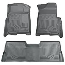 Husky Liners Custom Fit Front and Second Seat Floor Liner Set for Select Ford/Mazda/Mercury Models (Grey)