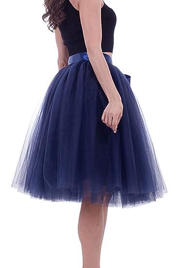 Sopliagon Falda De Tul Tutú para Mujer Azul One Size: Amazon.es ...