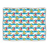 "Kess InHouse Apple Kaur Designs ""Beside The Seaside"" Boats Pet Dog Blanket, 40 by 30-Inch"