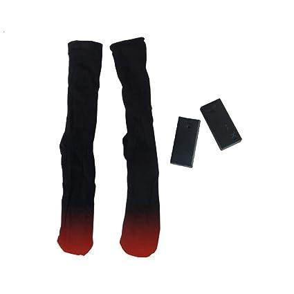 OUNONA Calcetines con Batería Eléctricos Calcetines Térmica Rodilla de Esquí de Invierno para Hombres Mujeres
