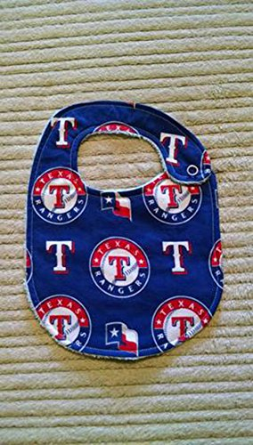 Texas Rangers Baseball Bib or Burp Cloth