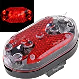 Tiny Deal 9-LED Multi-function Caution Light Safety Light Pilot Lamp for Bicycle Bike Walking - Red Light FLD-132859