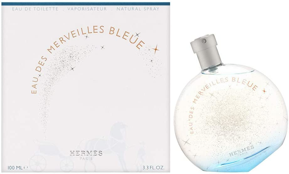 Hermès Paris Eau Des Merveilles Bleue Agua de Tocador Vaporizador - 100 ml: Amazon.es: Belleza