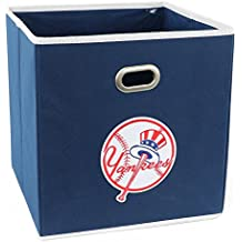 Yankees Storage Bin with Yankees Logo Storage Container for Home Kids and Adults