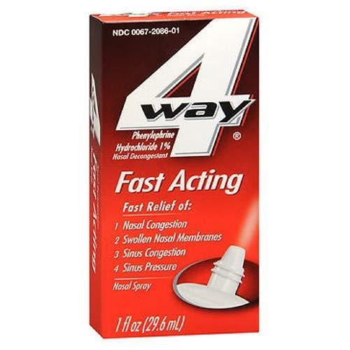 4 Way Fast Acting Nasal Spray - 1 oz, Pack of 3