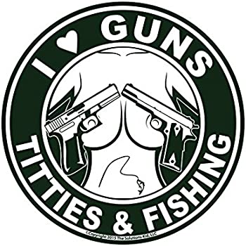amazon no bananas on board sticker decal boat fishing tackle Potato Canon i love guns titties fishing decal made in usa the original