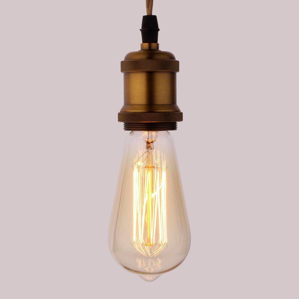4 piezas Vintage Bombilla,ZOOVQI E27 Edison Bombillas L/ámpara ST64 40W Filamento Incandescente en Estilo Retro
