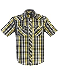 Gioberti Men's Short Sleeve Plaid Western Shirt