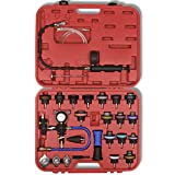 Festnight 27 pcs Radiator Pressure Tester with Vacuum Purge and Refill Kit
