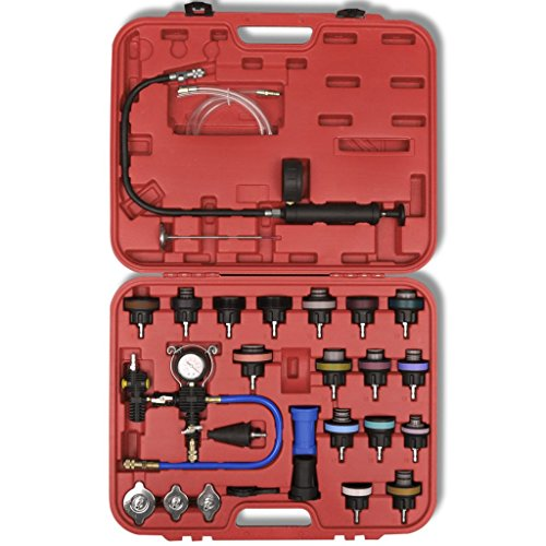 Festnight 27 pcs Radiator Pressure Tester with Vacuum Purge and Refill Kit by Festnight