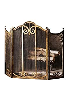 Buy Classic Scroll Antique Gold Iron Fireplace Screen: Fireplace Screens - Amazon.com ? FREE DELIVERY possible on eligible purchases