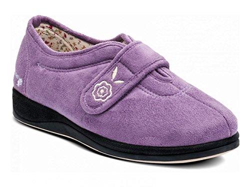 Sintética De Zapatillas Morado Para Por Tela Púrpura Padders Estar Lavanda Mujer Casa 5Ywqx5v