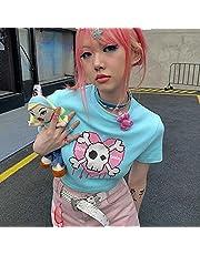 Vrouwelijke vrouwen T-shirts Korte Anime T-shirt Zomer Tee Dames Streetwear Crop Tops Y2K
