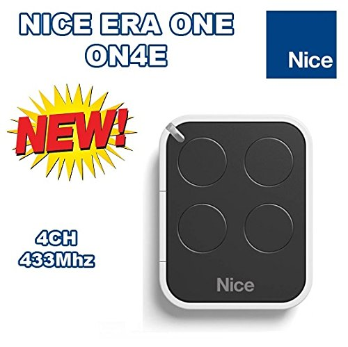 - NICE Era One ON4E 4-channel rolling code remote control transmitter, 433.92Mhz