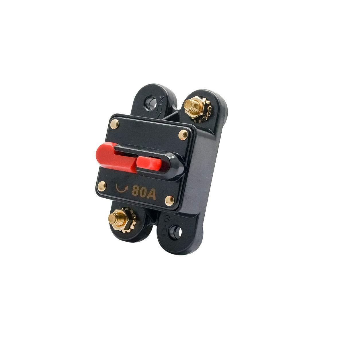 Leistungsschalter Reset Sicherung DC 12V MASO Leistungsschalter f/ür Auto Marine Boat Bike Stereo Audio Reset Sicherung 30A
