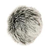 Pompon Kunstfell grau-silber