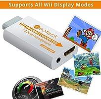 Neoteck Wii a HDMI Convetidor 720p/1080p Wii a HDMI Adaptador Full HD Mini Wii a HDMI +3.5mm Jack con HDMI Cable de 1 Metro Soporta NTSC/PAL para Smart TV HDTV-Blanco: Amazon.es: Electrónica