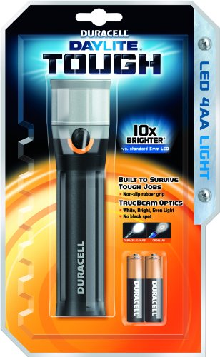 Duracell Daylite Tough Taschenlampe mit 4x AA Batterien PSA Parts (Duracell Direct) DAYLITE  G-TECH