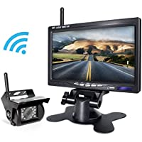 Wireless Backup Camera and Monitor Kit For Truck Trailer RV Tractor Avoid Blind Area When Reversing Parking Backing eRapta WR01