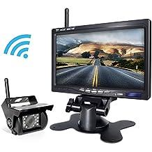 Backup Camera Wireless and Monitor Kit For Truck/Semi-Trailer/Box Truck/RV to Avoid Blind Area When Do Reversing...