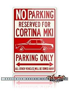 Lotus Cortina MkI 1963–1966reservado aparcamiento solo Sign de aluminio
