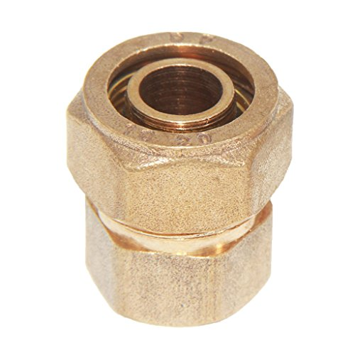Dovewill Solid Brass Coupling Compression Coupler Female Aluminum Pipe Threaded Fitting Connector Adapter Home Hardware - Yellow, S20 1/2'' -