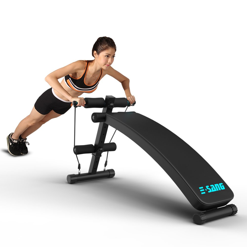 Sit Up Bench, egymcom Adjustable Abdominal Decline Bench Slant Board/Abs Workout Benches