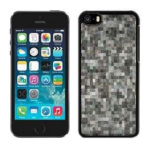 Fashionable Custom Designed iPhone 5C Phone Case With TV No Signal_Black Phone Case