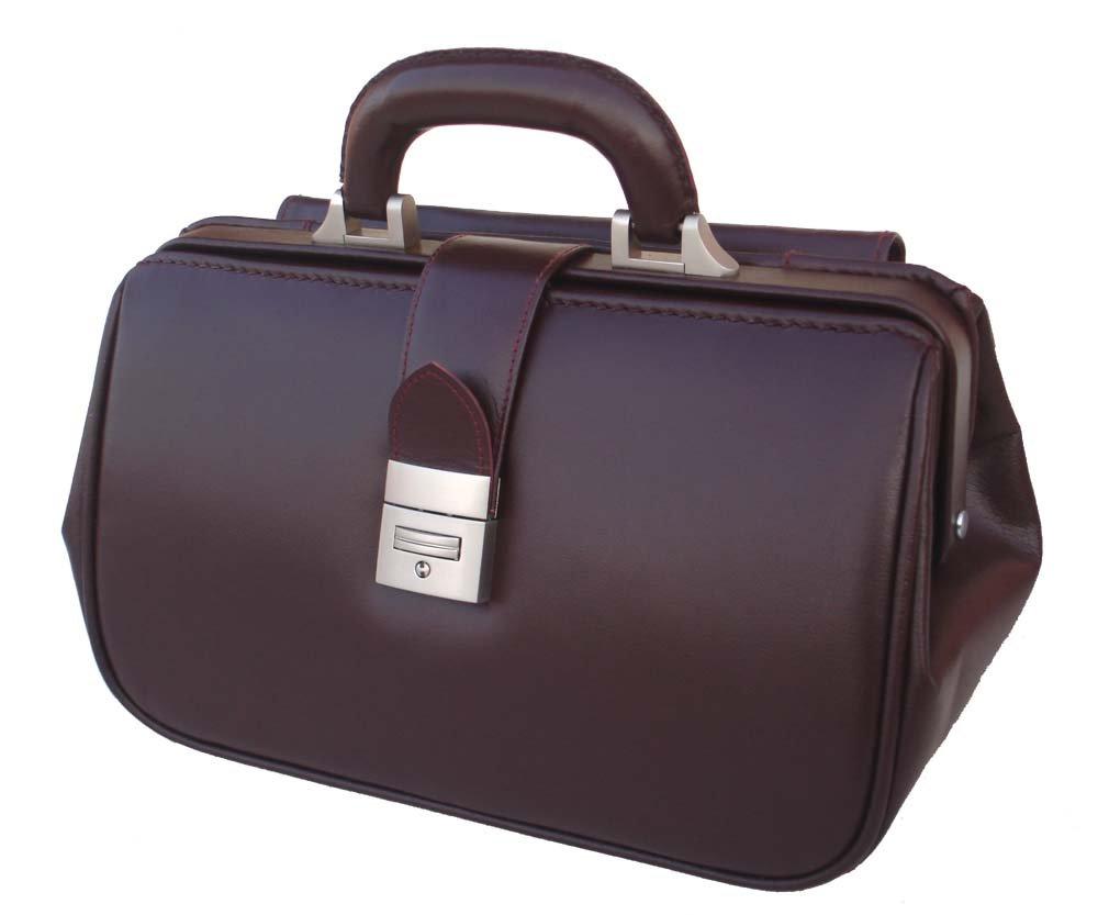 RA Bock Fine Leather Doctor Bag - Small (Burgundy)