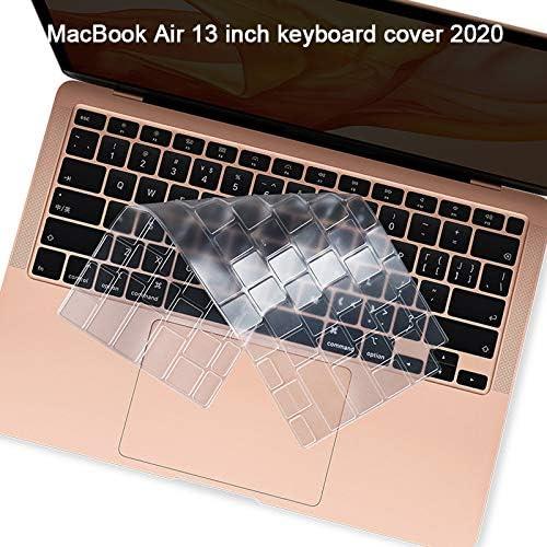 Lapogy 2020 New MacBook Air 13 inch Keyboard Cover Ultra Thin Transparency Skin Keyboard Protector Model A2179 2020MacBook Air 13 inch AccessoriesTPU