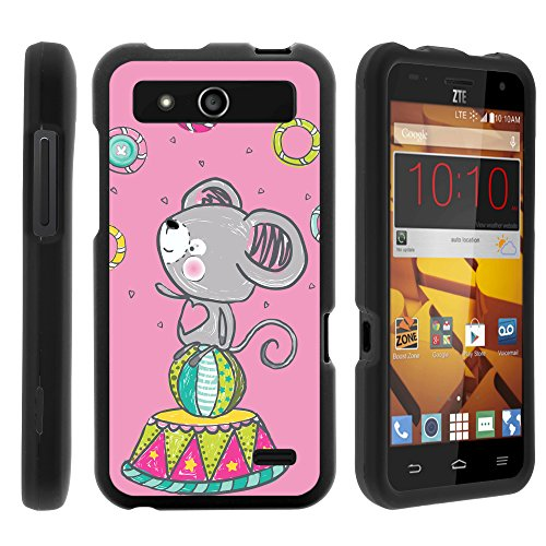 ZTE Speed Phone Case, Full Body Armor Snap On Hard Case Protector Cover with Customized Design for ZTE Speed N9130 (Boost Mobile) from MINITURTLE | Includes Clear Screen Protector and Stylus Pen - Circus Koala
