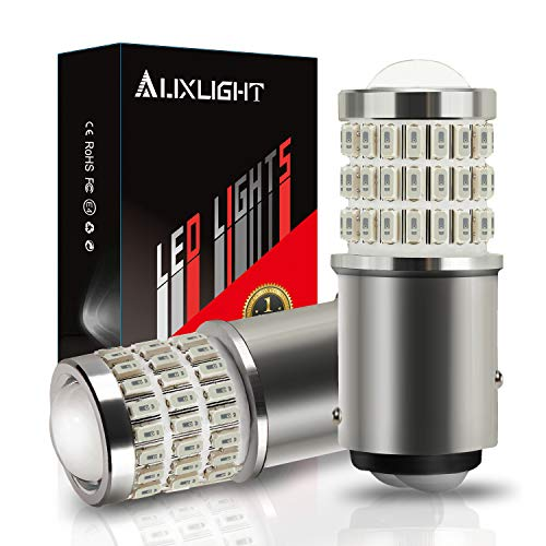 AUXLIGHT 2057 1157 2357 7528 2057A 1157A 2357A LED Bulbs Brilliant Red, Ultra Bright 57-SMD LED Replacement for Brake/Tail Lights, Blinker Lights, Turn Signal/Parking or Running Lights (Pack of 2)