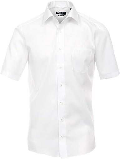 Camisa Manga Corta Casa Moda Blanco Tallas Grandes: Amazon.es ...