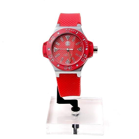 Relojes Calgary, Portofino Silver Coral, Correa Color Coral con Detalle Color Plata: Amazon.es: Relojes