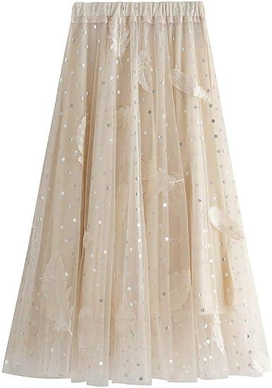 Vectry Faldas Mujer Moda Mujer Primavera Cintura Elástica Alta ...