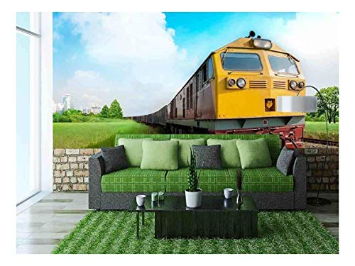wall26 - Cargo Train - Removable Wall Mural   Self-Adhesive Large Wallpaper - 100x144 ()