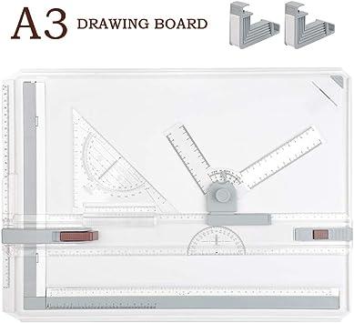TIMESETL A3 Tablero de dibujo DIN A3 Mesa de dibujo, 51 x 36.5cm ...