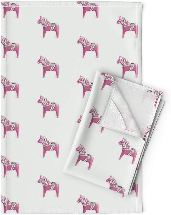Irish dish tea towel horse mare foal pony barn Ireland cotton linen kitchen