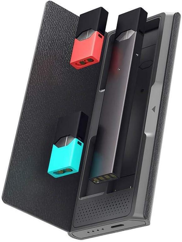 Jmate P4 Estuche de Carga Portátil y Soporte para Cápsulas y Compatible con JUUL Vaporizadores -Estuche Cargador de Cigarrillo Electrónico Portátil para 3 Pods y Sirve Como Cargador de Batería de eCig: