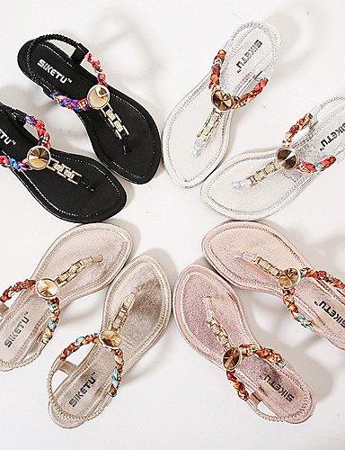 ShangYi Sandaletten für Damen Damenschuhe - Sandalen - Kleid / Lässig - Kunststoff - Keilabsatz - Wedges / Plateau / Fersenriemen - Schwarz / Rosa / Silber / Gold Black