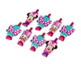 American Greetings Minnie Mouse Bowtique Party Blowers, Pack of 8, Party Supplies
