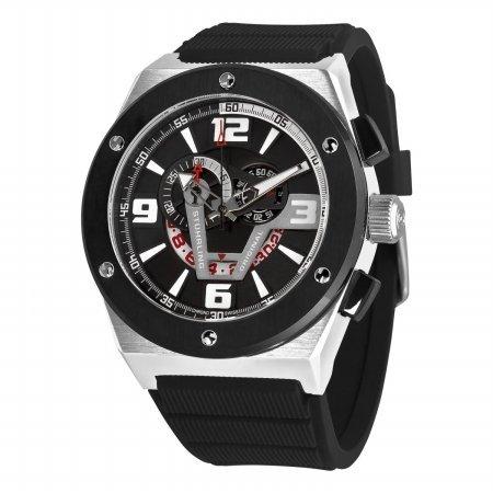 Stuhrling Original de hombre 281 X l.33161 Esprit turbina Swiss cuarzo fecha negro reloj: Amazon.es: Relojes