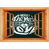 what is beadboard 3D Depth Illusion Vinyl Wall Decal Sticker [ Hippie,What the World Needs Now is Love Quote Lettering Art Circle Grunge Typography Decorative,Dark Green White ] Window Frame Style Home Decor Art Remova